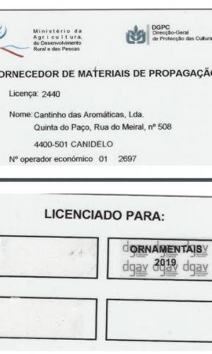 Licença viveirista 2019